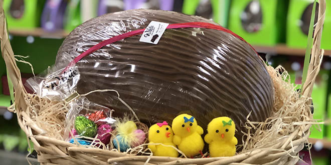 Wilde Irish Chocolates Jumbo Egg Basket
