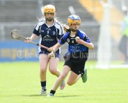 Serena Clancy of Kilkee/Kilbaha in action against Rachel Guerin of Bridgetown during their Munster Championship game at Walsh Park. Photograph by John Kelly