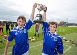 120619 Cratloe joint captains Marc O'Brien and Eoin Carey Hurling Division 1 winners.Pic Arthur Ellis