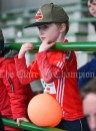 Kilmurry Mc Mahon/Labasheeda fan James O Connell in the stand during their Primary Schools Div 4 Football 9-Aside final at Kilrush. Photograph by John Kelly