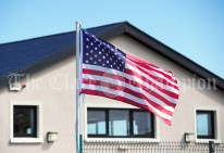 The US flag flies at Doonbeg NS, as a visit from Melania Trump is rumored during the visit of President of the United States Of America Donald J. Trump. Photograph by John Kelly.