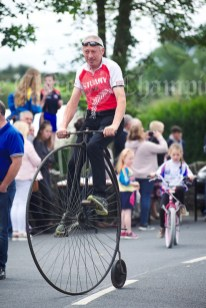 John O Connell on his Penny farthing during the annual parade as part of the Dan Furey Festival in Labasheeda. Photograph by John Kelly