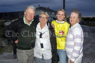 230819 Laurie and Chris Wordsworth, Melbourne Australia with Grainne and Geraldine Reddan, Miltown, during the RNLI fund raising cruise to the Cliffs of Moher and Inis Oir with Doolin2Aran Ferries Star of Doolin on Friday evening.Pic Arthur Ellis.