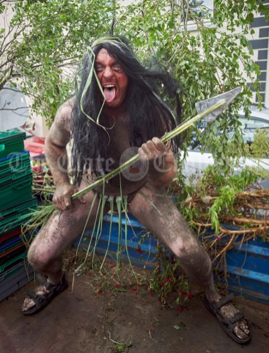 Things get a bit wild during the Cultural Parade as part of the annual Festival Of Fun in Kilmihil. Photograph by John Kelly