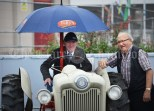 Cllr. PJ Kelly, owner of a Ford Golden Jubilee 1953, and Bernie Mc mahon chatting during the Vintage Rally and field day as part of the annual Festival Of Fun in Kilmihil. Photograph by John Kelly