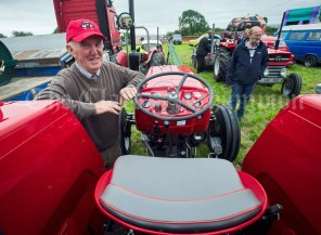 Cooraclare's Paddy Mc Mahon with immaculately restored Massey Ferguson 135 tractor at Kildysart Show. Photograph by John Kelly