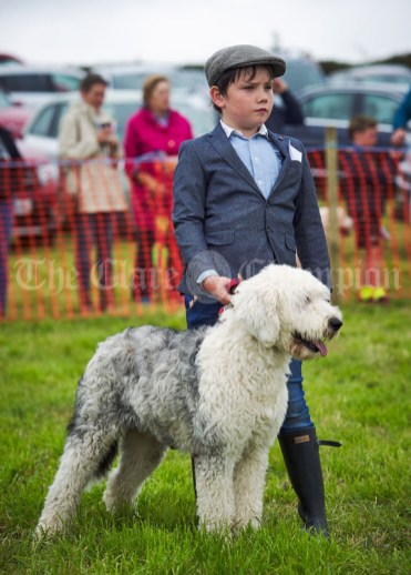Laurence Hannon with his dog at Kildysart Show. Photograph by John Kelly