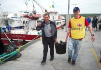 The Champagne is taken to the boat ahead of the Romantic RNLI Cruise held in association with Bill O Brien's Doolin Ferry Company. Photograph by John Kelly