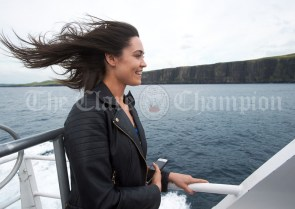 Former Miss Clare Lauren Guilfoyle during the Romantic RNLI Cruise held in association with Bill O Brien's Doolin Ferry Company. Photograph by John Kelly