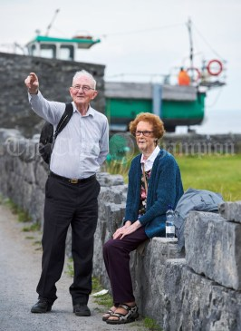 Michael and Mary Mc Namara explore Inisheer Island during the Romantic RNLI Cruise held in association with Bill O Brien's Doolin Ferry Company. Photograph by John Kelly