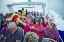 The champagne flowing during the Romantic RNLI Cruise held in association with Bill O Brien's Doolin Ferry Company. Photograph by John Kelly