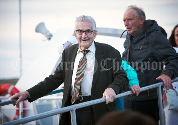 A beaming Eddie Duggan of Broadford following the Romantic RNLI Cruise held in association with Bill O Brien's Doolin Ferry Company. Photograph by John Kelly