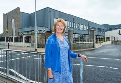 Deputy Principal Mary Murphy during the first day of school at the newly built Ennis CBS primary school. Photograph by John Kelly