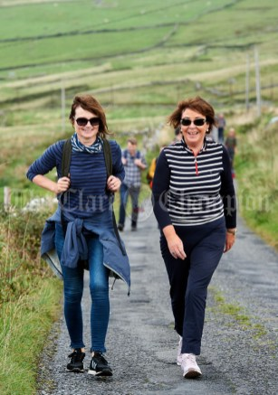 Miriam Collins and Lorraine Burke during the Burren Ramble in aid of the RNLI at Fanore. Photograph by John Kelly