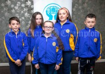 270919 Community Games All Stars L-R Dylan Rushe, Ennis St Johns, Evie Quinn, Tulla, Lily Keane, Cooraclare, Ami Corry, Cooraclare and Kris O'Callaghan, Ballynacally . Pic Arthur Ellis.