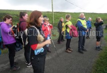 Walkers pause to take in the views over Fanore during Sunday's Burren Ramble in aid of the RNLI.