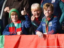 KIB fans before their senior football county final at Cusack Park. Photograph by John Kelly.