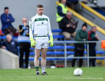 Ian Mc Inerney of Kilmurry Ibrickane who scored the equalising point against Miltown during their senior football county final at Cusack Park. Photograph by John Kelly.