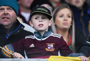 A young Miltown fan reacts as a free is awarded against his team late on during their senior football county final at Cusack Park. Photograph by John Kelly.