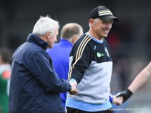 A relieved looking Aiden Moloney, Kilmurry Ibrickane manager, following their senior football county final draw at Cusack Park. Photograph by John Kelly.