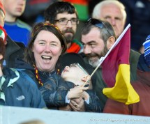 A happy Miltown fan during their senior football county final replay at Cusack Park. Photograph by John Kelly.