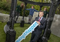 REPRO FREE 010919 Launching Local Enterprise Office Student Enterprise Programme 2019 at Treacys West County Hotel Ennis was Padraic McElwee, Head of Enterprise Local Enterprise Office Clare with Students from St Michaels Kilmihil and St Flannans College Ennis.Pic Arthur Ellis.