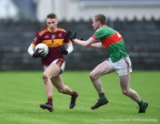 Michael Murray of Miltown in action against Liam Connolly of Rathgormack of during their Munster Club quarter final at Miltown. Photograph by John Kelly