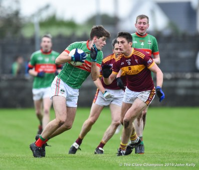 Tom Walsh of Rathgormack in action against Conor Cleary of Miltown of during their Munster Club quarter final at Miltown. Photograph by John Kelly