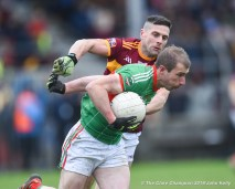Cathal Crowch of Rathgormack in action against Graham Kelly of Miltown of during their Munster Club quarter final at Miltown. Photograph by John Kelly