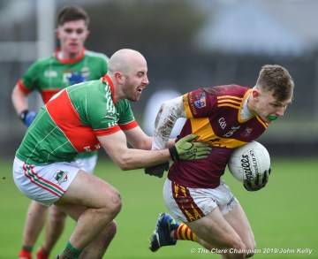 Cormac Murray of Miltown in action against Conor Walsh of Rathgormack of during their Munster Club quarter final at Miltown. Photograph by John Kelly