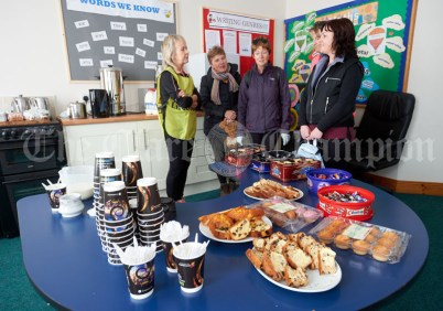 A selection of refreshments provided in the local school for the Shades Of Autumn 10k walk in aid of the RNLI on bank Holiday Monday at Shragh. Photograph by John Kelly.