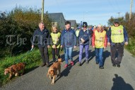 Sean Dunleavy, Helen Crowley, Pauline Dunleavy, Caroline Bradley, Bernie Cahill and Jodie Cahill leading out the Shades Of Autumn 10k walk in aid of the RNLI on bank Holiday Monday at Shragh. Photograph by John Kelly.