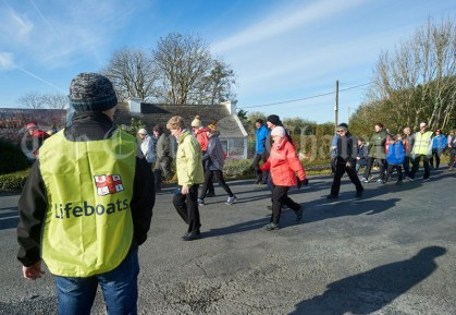 Walkers head off on the Shades Of Autumn 10k walk in aid of the RNLI on bank Holiday Monday at Shragh. Photograph by John Kelly.