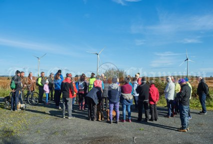 Walkers take time out for reflection during the Shades Of Autumn 10k walk in aid of the RNLI on bank Holiday Monday at Shragh. Photograph by John Kelly.