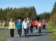 Walkers enjoying the quietness of the bogs during the Shades Of Autumn 10k walk in aid of the RNLI on bank Holiday Monday at Shragh. Photograph by John Kelly.