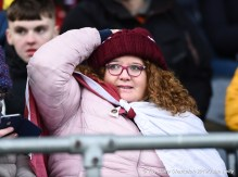 An anxious St Breckan's fan looks on near the end of their Munster Club Intermediate final against Templenoe at Mallow. Photograph by John Kelly