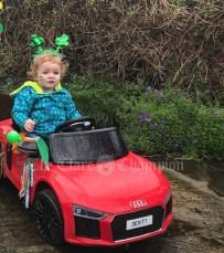 """""""Boss Baby"""" Bláithín Devitt - leading the parade in Newmarket in Fergus"""