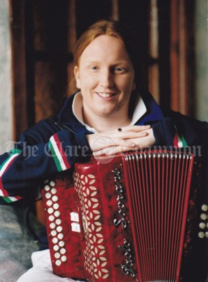 Deirdre McDonald, Corrib Drive, Shannon who recently won, for the third year in a row, the Irish Accordion Association All Ireland. Photograph Eamon Ward