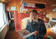 Corinna Schroeder who has produced books of her late husband Walter's art. Photograph by John Kelly