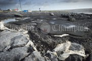 A view of some of the damage caused by storm Ciara to the car park surface at Doolin Pier. Photograph by John Kelly