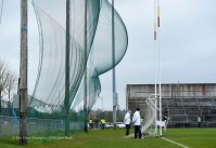 Windy conditions during the Croke Cup quarter final at Mallow. Photograph by John Kelly