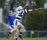 Peter Power of St Flannan's in action against David Fogarty of St. Kieran's College Kilkenny during their Croke Cup quarter final at Mallow. Photograph by John Kelly