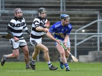 Jack Lyons of St Flannan's in action against Conor Kelly of St. Kieran's College Kilkenny during their Croke Cup quarter final at Mallow. Photograph by John Kelly