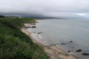 Brittas Bay in the distance.
