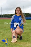 Molly Purcell from Sixmilebridge-Kilmurry, winner of the Girls U14 Long Puck event. Photography by Eugene McCafferty