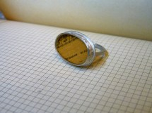 3. Ring with ruler in patterned setting (size S / ruler is 23 x 14mm) was £90 / now £40