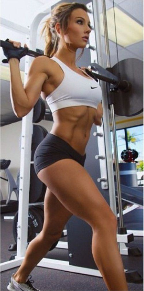 Fitness models workout training