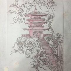 Japanese Pagoda half back piece