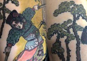 Onna Bugeisha tattoo details
