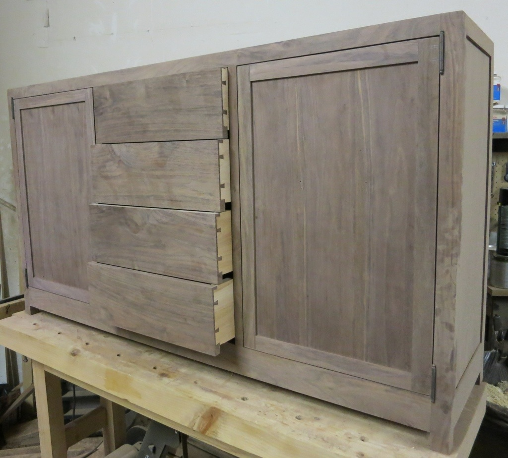 Fitting Non Mortise Hinges To A Sideboard Claremont Designs